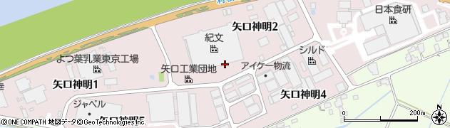 千葉県栄町(印旛郡)矢口神明周辺の地図