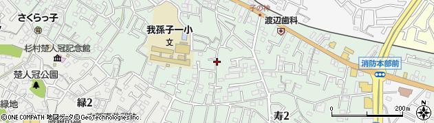 千葉県我孫子市寿周辺の地図