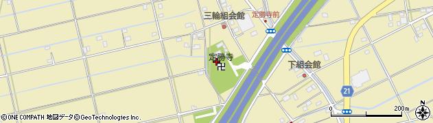 定勝寺周辺の地図