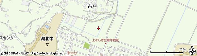 千葉県我孫子市古戸周辺の地図