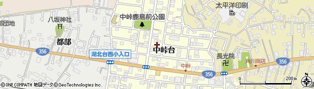 千葉県我孫子市中峠台周辺の地図
