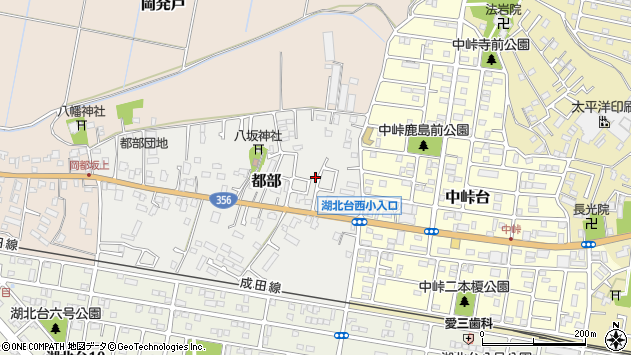 〒270-1131 千葉県我孫子市都部の地図