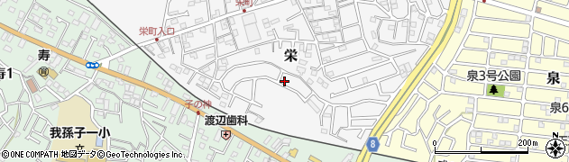 千葉県我孫子市栄周辺の地図