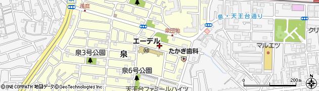 千葉県我孫子市泉周辺の地図