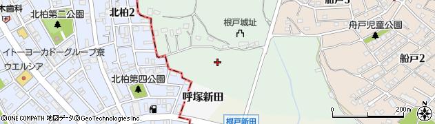 千葉県我孫子市根戸周辺の地図