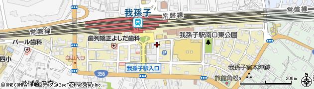 千葉県我孫子市本町周辺の地図