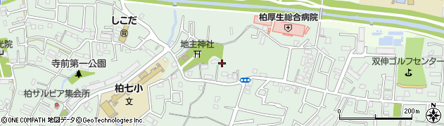 千葉県柏市篠籠田周辺の地図