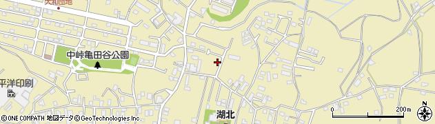 千葉県我孫子市中峠周辺の地図