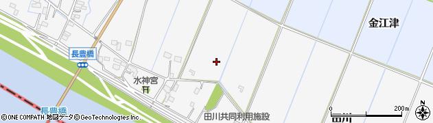 茨城県河内町(稲敷郡)田川周辺の地図