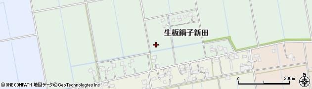 茨城県河内町(稲敷郡)生板鍋子新田周辺の地図