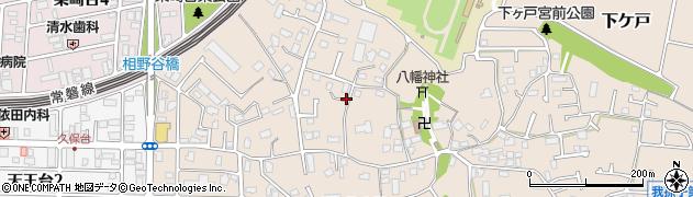 千葉県我孫子市下ケ戸周辺の地図