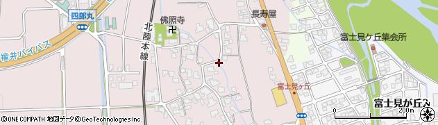 福井県越前市四郎丸町周辺の地図