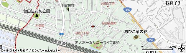 千葉県我孫子市台田周辺の地図
