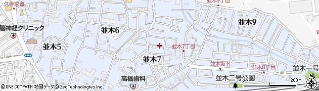 千葉県我孫子市並木周辺の地図