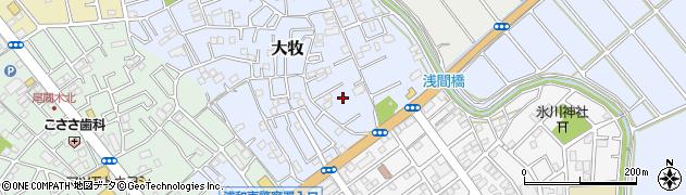 埼玉県さいたま市緑区大牧周辺の地図