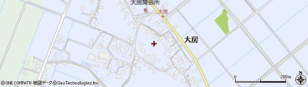 茨城県利根町(北相馬郡)大房周辺の地図