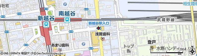 新越谷駅入口周辺の地図
