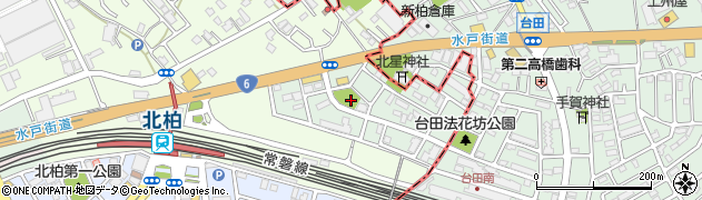 千葉県柏市北柏台周辺の地図