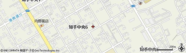 茨城県神栖市知手中央周辺の地図