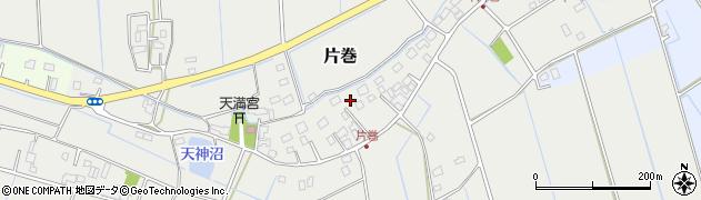 茨城県河内町(稲敷郡)片巻周辺の地図