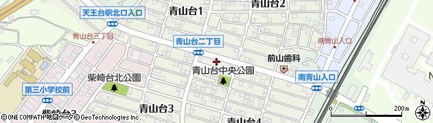 千葉県我孫子市青山台周辺の地図