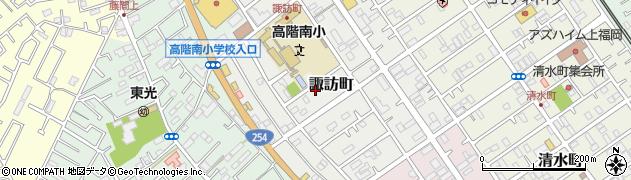 埼玉県川越市諏訪町周辺の地図