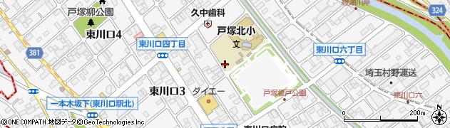 埼玉県川口市東川口周辺の地図