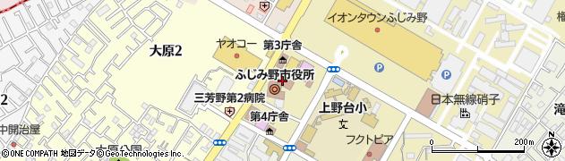 埼玉県ふじみ野市周辺の地図