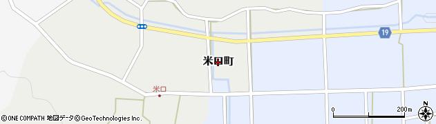 福井県越前市米口町周辺の地図