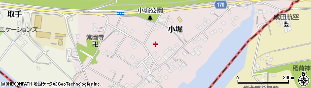 茨城県取手市小堀周辺の地図
