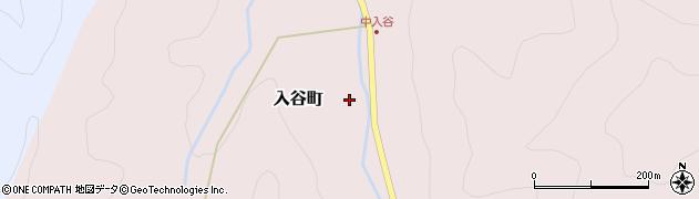 福井県越前市入谷町周辺の地図