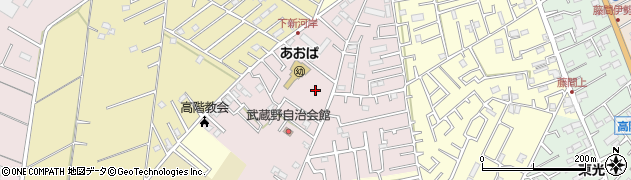 埼玉県川越市下新河岸周辺の地図