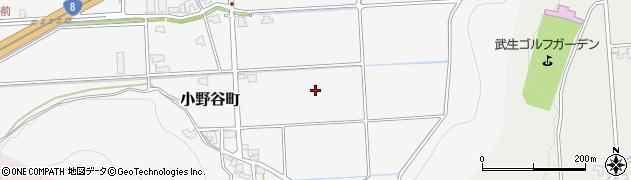 福井県越前市小野谷町周辺の地図