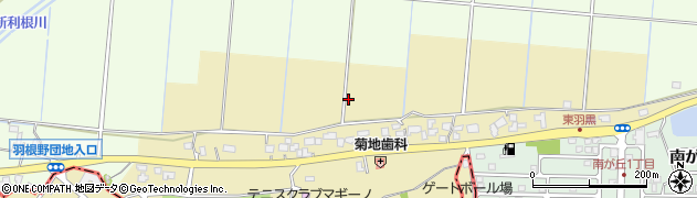 茨城県龍ケ崎市羽黒町周辺の地図