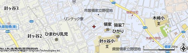 領家公務員住宅周辺の地図