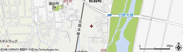 福井県越前市松森町周辺の地図