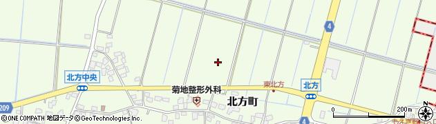 茨城県龍ケ崎市北方町周辺の地図