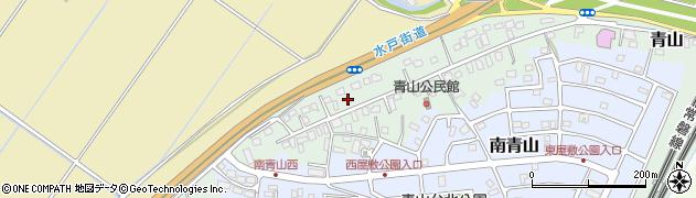 千葉県我孫子市青山周辺の地図