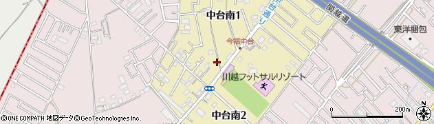 埼玉県川越市中台南周辺の地図