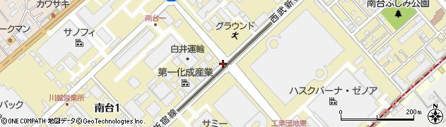埼玉県川越市南台周辺の地図