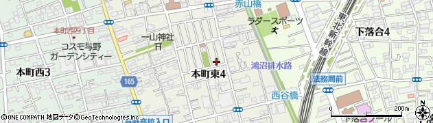 埼玉県さいたま市中央区本町東4丁目周辺の地図