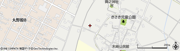 茨城県神栖市木崎周辺の地図