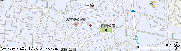 埼玉県さいたま市緑区三室周辺の地図