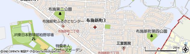 千葉県柏市布施新町周辺の地図