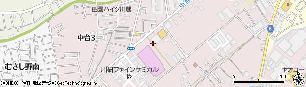埼玉県川越市中台周辺の地図