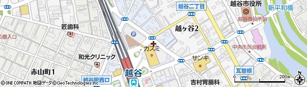 埼玉県越谷市弥生町周辺の地図