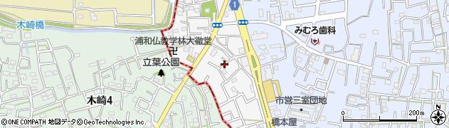 埼玉県さいたま市緑区山崎周辺の地図