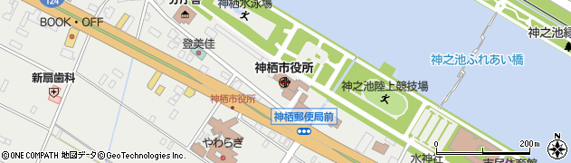 茨城県神栖市周辺の地図