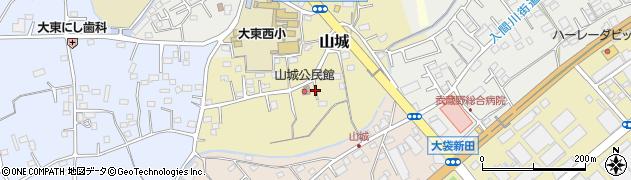 埼玉県川越市山城周辺の地図