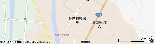 福井県今立郡池田町周辺の地図